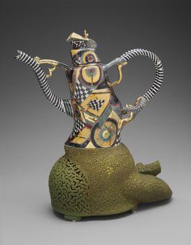 """""""Teapot and stand"""" from 2001 by Ralph Bacerra."""