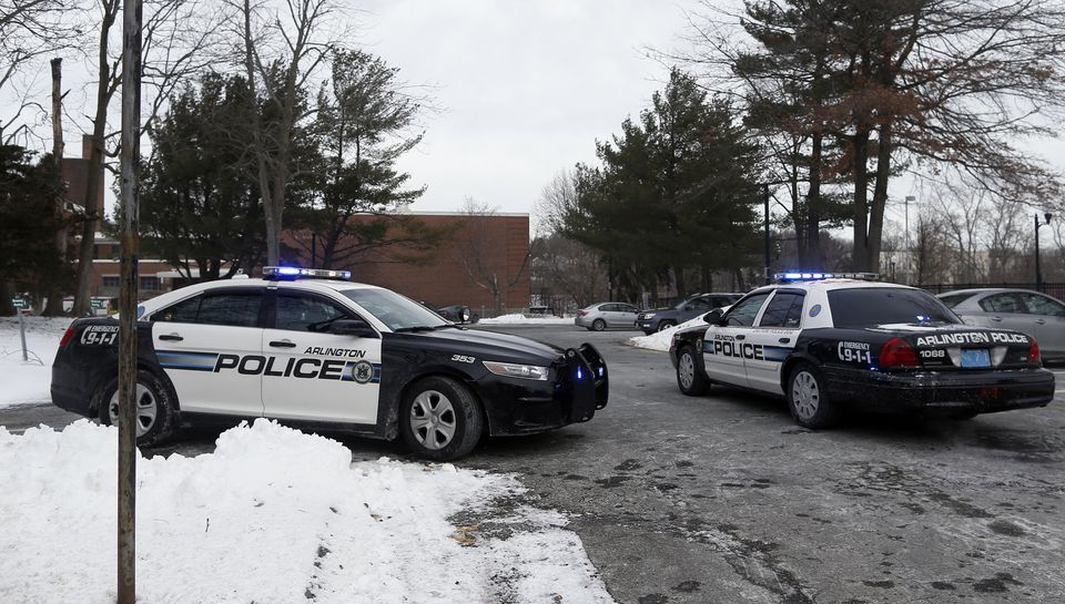 In Arlington, the town's public high school was closed after a threatening automated call.