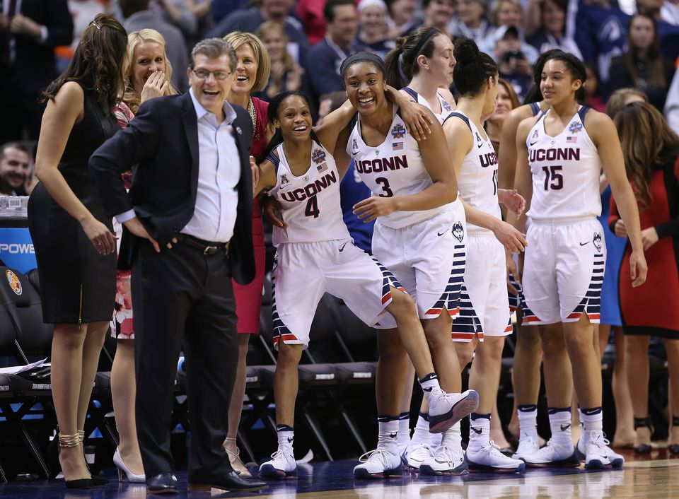 The UConn women's basketball team won its fourth straight national title Tuesday.