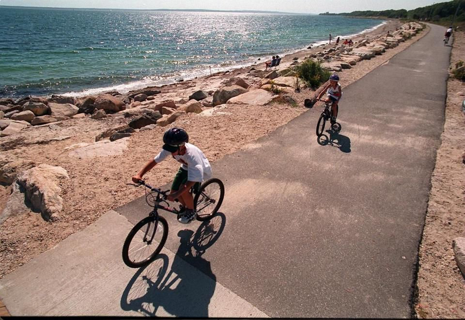 Shining Sea Bikeway, which runs along Vineyard Sound between Falmouth and Woods Hole.