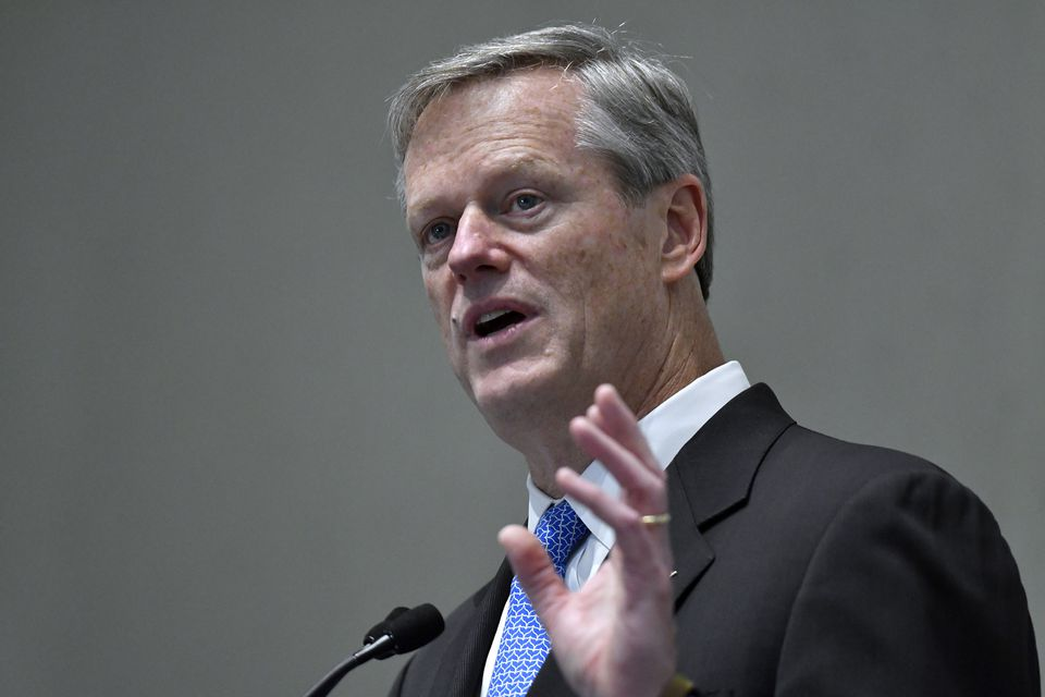 Charlie Baker spoke with The Globe's editorial board on Friday.