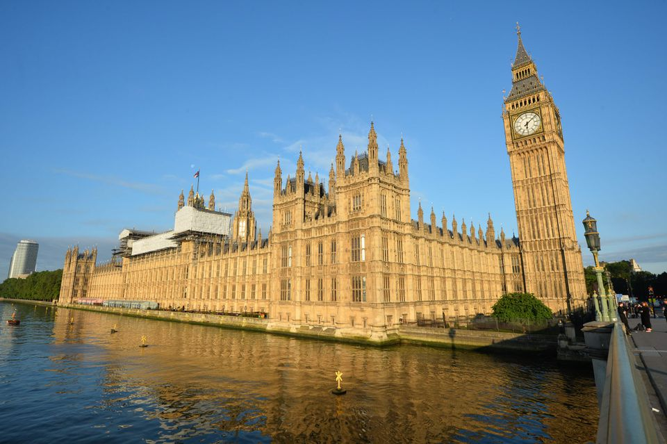 The British Houses of Parliament in London.