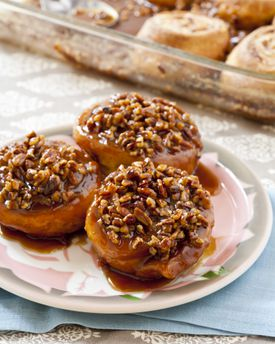 Today's iconic version of sticky buns.
