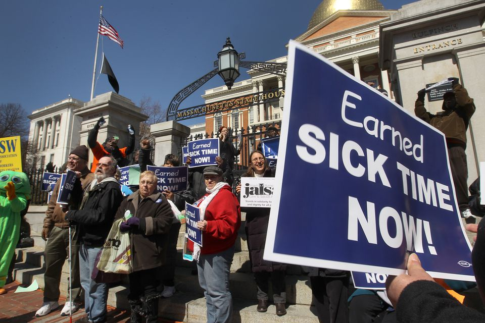 More than 100 employees, business owners, parents, and nurses showed support for earned sick time legislation.