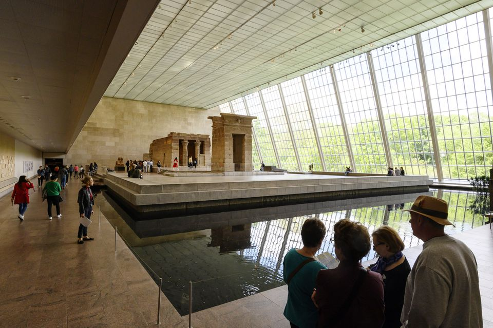 Patrons visited the Temple of Dendur, in the Sackler Wing at the Metropolitan Museum of Art, in New York on May 15.