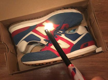 7b5a933d1595b People burn their New Balance shoes after the company praised Trump ...