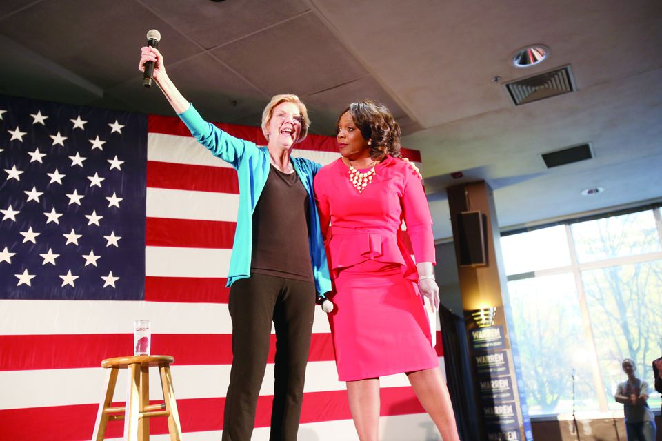 Elizabeth Warren was welcomed to Birmingham, Ala., by State Representative Merika Coleman on Tuesday night.