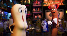 "Brenda (Kristen Wiig) and Frank (Seth Rogen) in ""Sausage Party."""