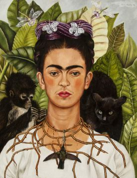 "Frida Kahlo's ""Self-Portrait with Hummingbird and Thorn Necklace."""