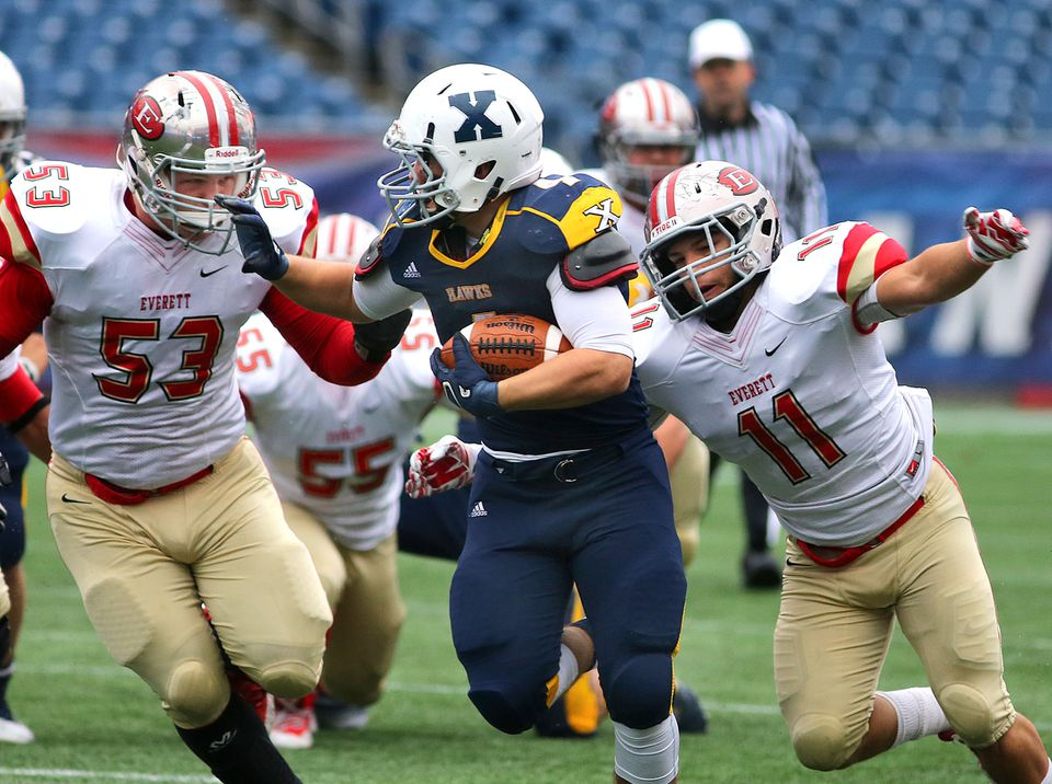 Noah Sorrento scored four touchdowns in Xaverian's victory Saturday.