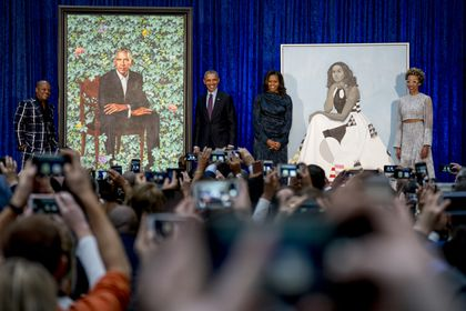 Those interesting new Obama portraits, explained - The Boston Globe