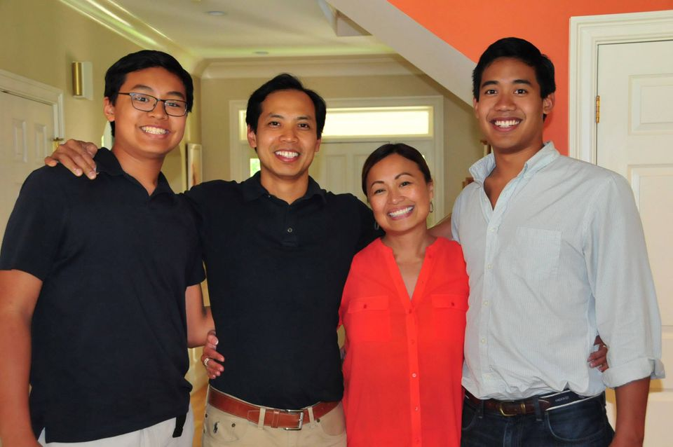 A family photo from this year of Sheila Lirio Marcelo with son Adam, husband Ron, and son Ryan.