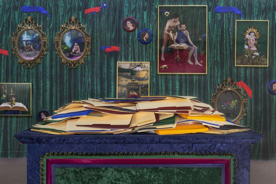 """An installation shot of """"Rachel Stern: More Weight."""""""