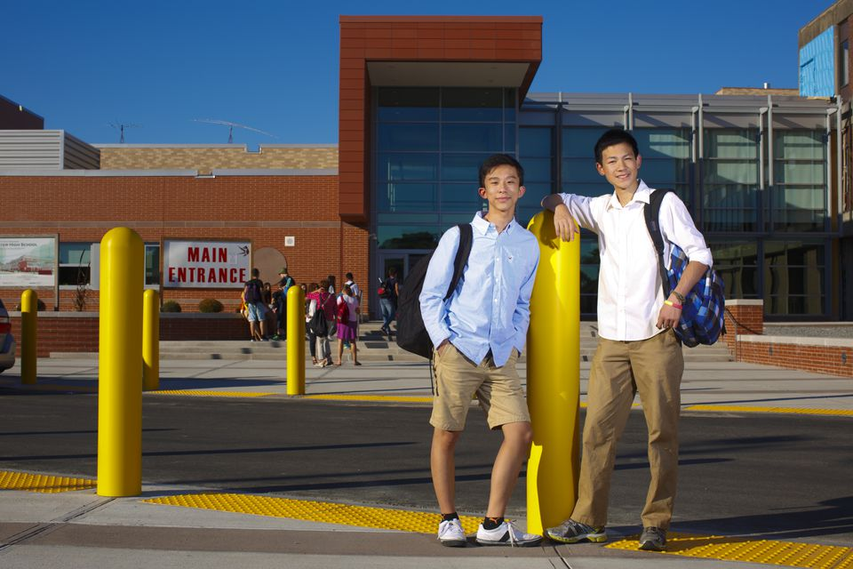 Entrepreneurs Ethan Wong and Justin Yu are business partners as well as classmates at Winchester High School.