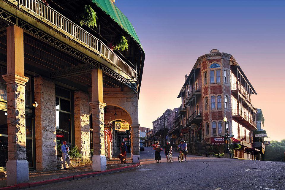 The Victorian-era town of Eureka Springs.