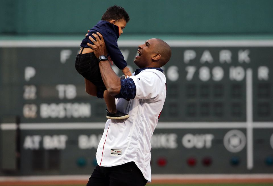 Four-time All-Star and newest Boston Celtics NBA free agent signee Al Horford with son Ean, 16 months.