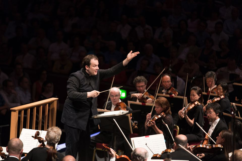 Andris Nelsons led the Boston Symphony Orchestra at London's Royal Albert Hall last August.