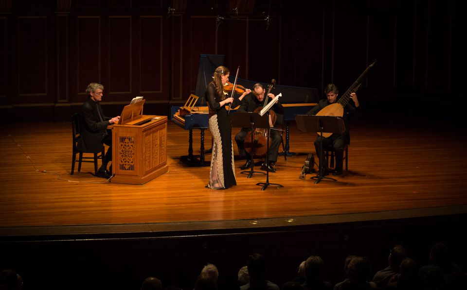 "Boston Baroque concertmaster Christina Day Martinson performed Heinrich Ignaz Franz von Biber's full ""Mystery"" Sonatas at Jordan Hall."
