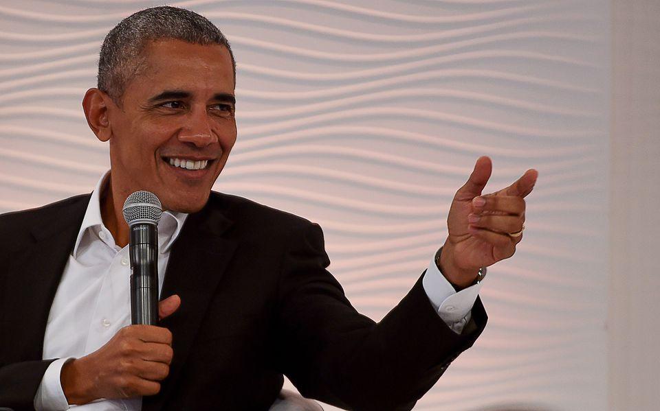 Former president Barack Obama spoke at the Hindustan Times Leadership Summit in India.