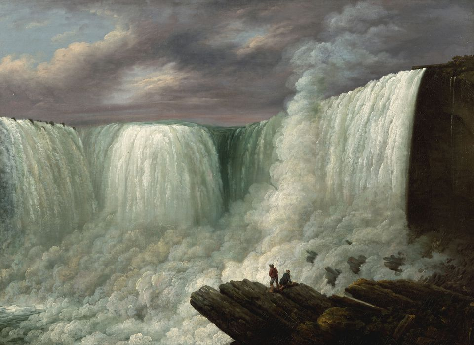 """Louisa Davis Minot's 1818 """"Niagara Falls"""" is part of """"The Poetry of Nature: Hudson River School Landscapes From the New-York Historical Society"""" at the Worcester Art Museum."""