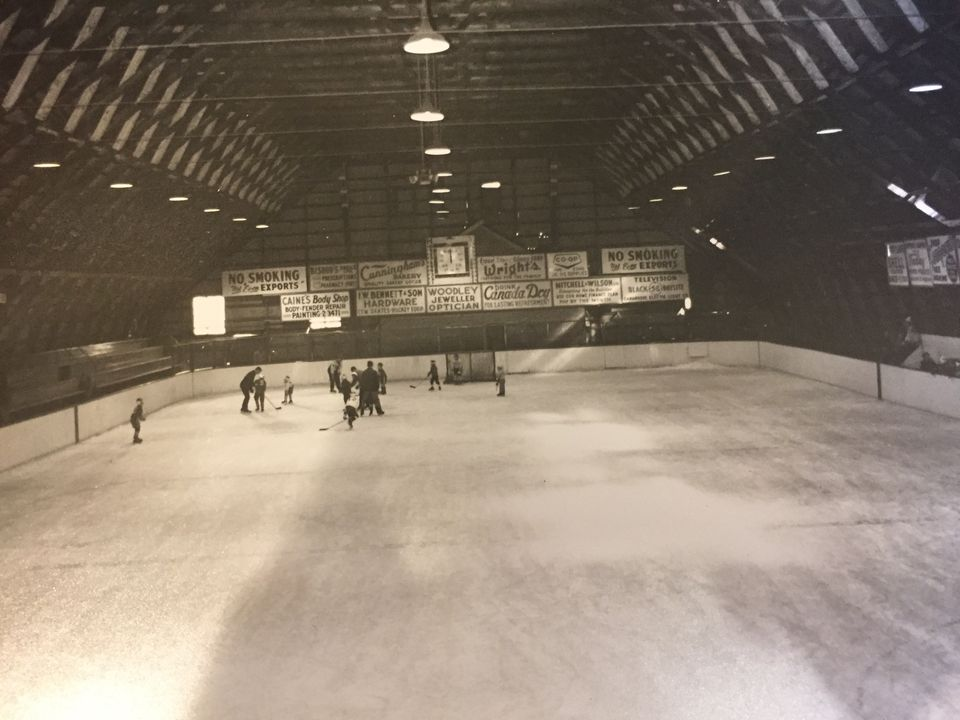 An interior view of the Gananoque rink.