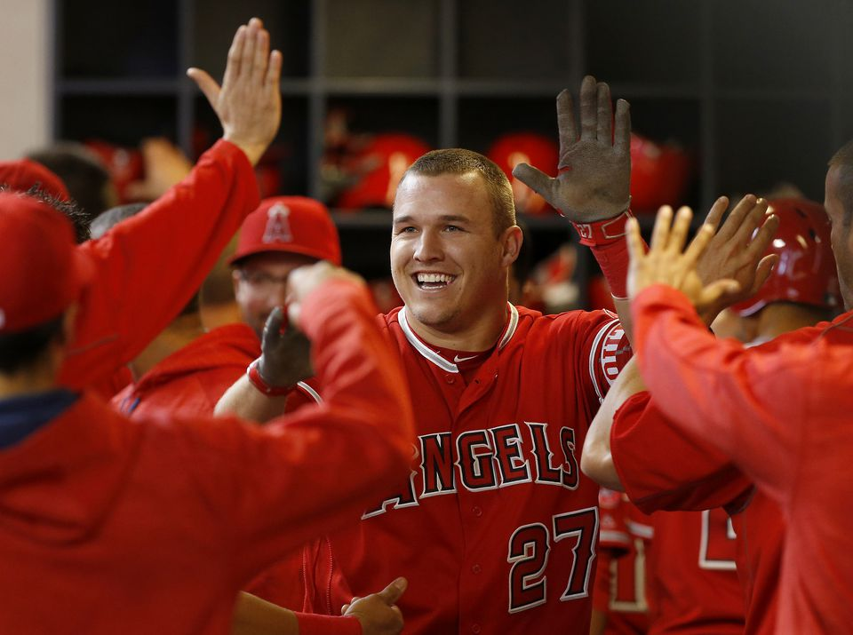 Mike Trout is earning $15.25 million this season.