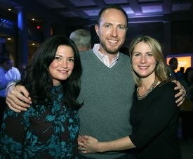 From left: Bonnie Miller with John and Jess Gillooly, all from Milton, at the Next Step party.