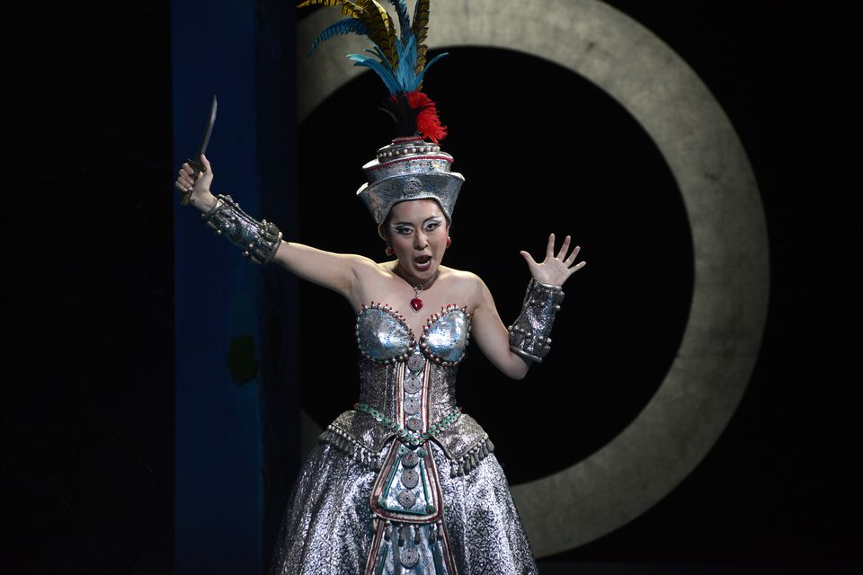 """So Young Park as Queen of the Night in the Boston Lyric Opera's production of """"The Magic Flute."""""""