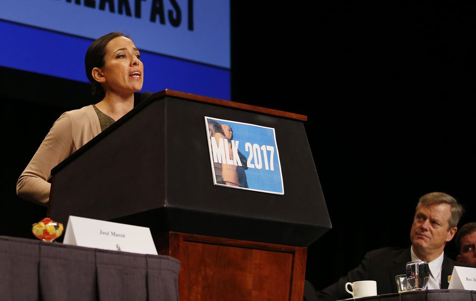 State Senator Sonia Chang-Diaz spoke Monday at the annual Martin Luther King Jr. Memorial Breakfast.