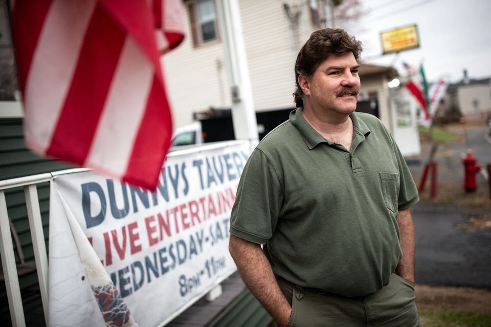 """Tavern owner Howard Goodrow: """"Even though we have a two-party system, do they have to be against each other on everything?"""""""