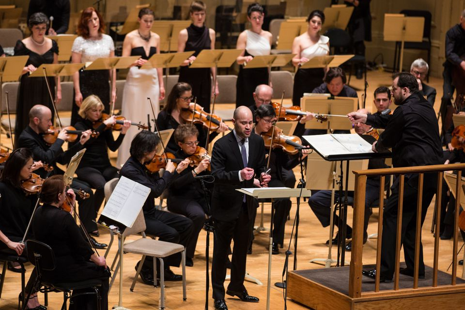"""Andris Nelsons led Boston Symphony with Bejun Mehta and Lorelei Ensemble in George Benjamin's """"Dream of the Song."""""""