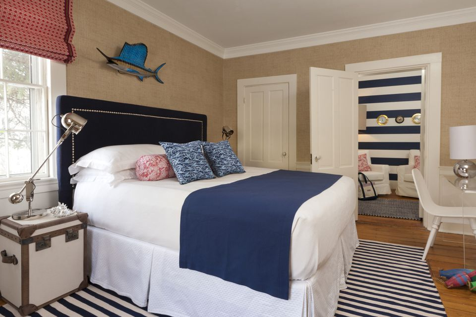 Rachel Reider brought Vineyard Vines designs and other elements into the Captain Fairfield Inn (pictured) and 76 Main.
