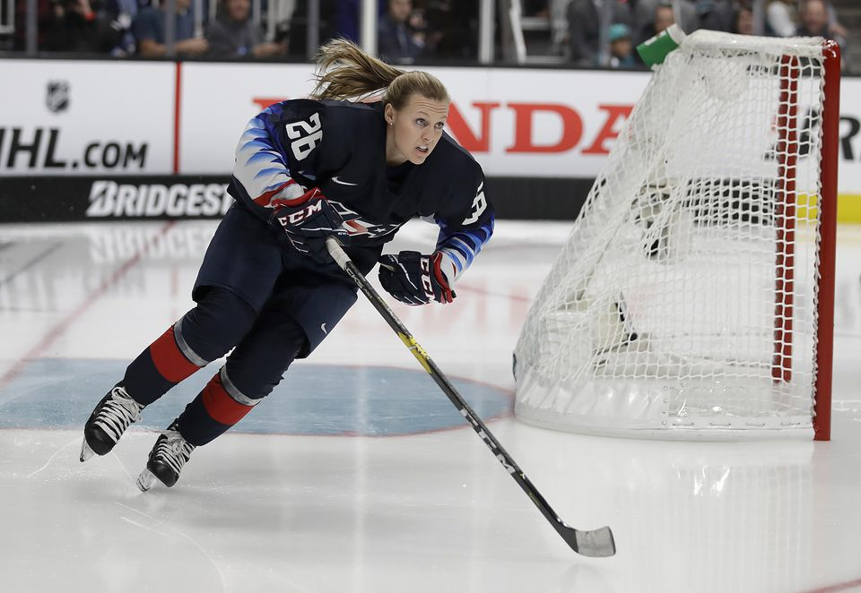 US Women's National Team forward Kendall Coyne Schofield at the NHL All-Star weekend.