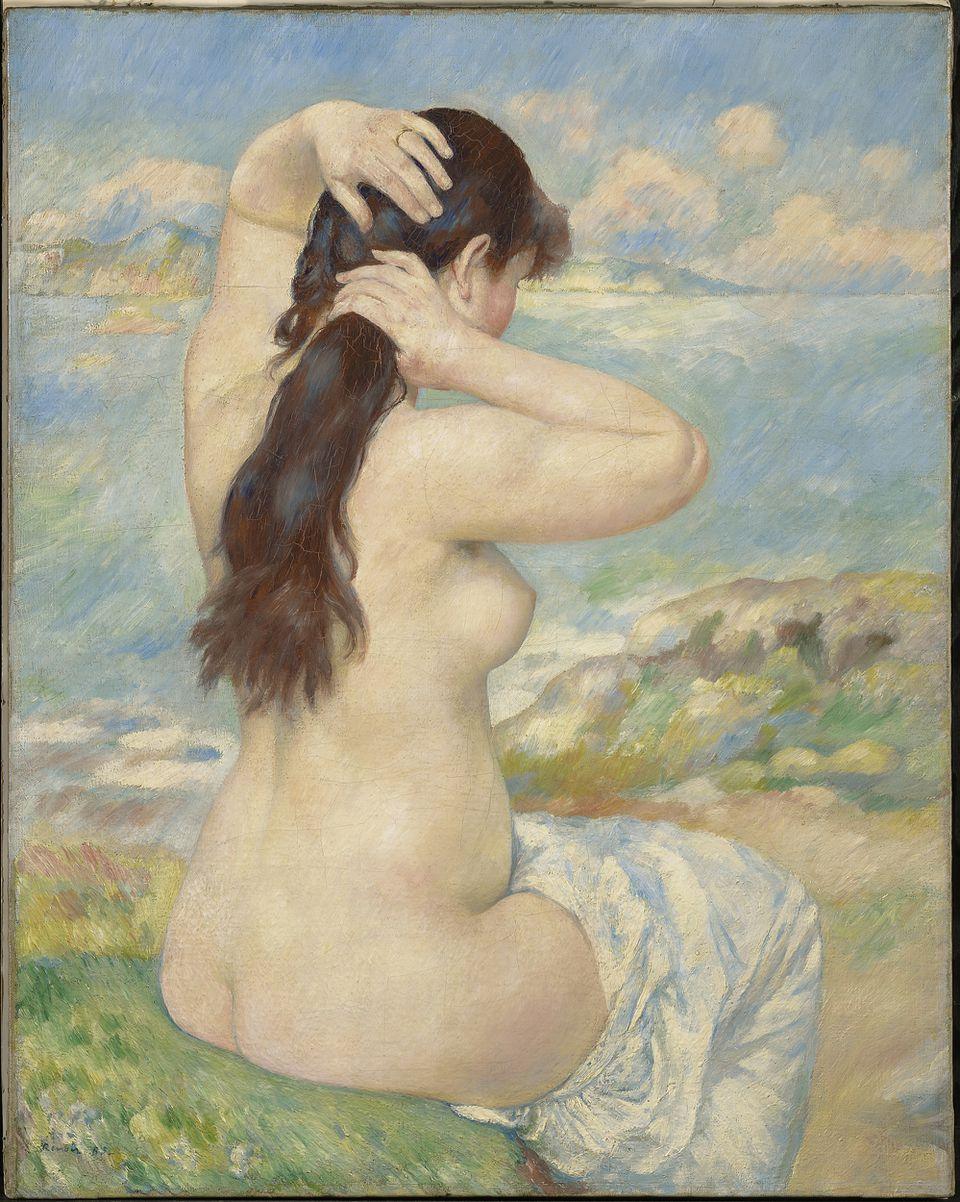 Pierre-Auguste Renoir, Bather Arranging Her Hair, at the Clark Art Institute starting June 8.