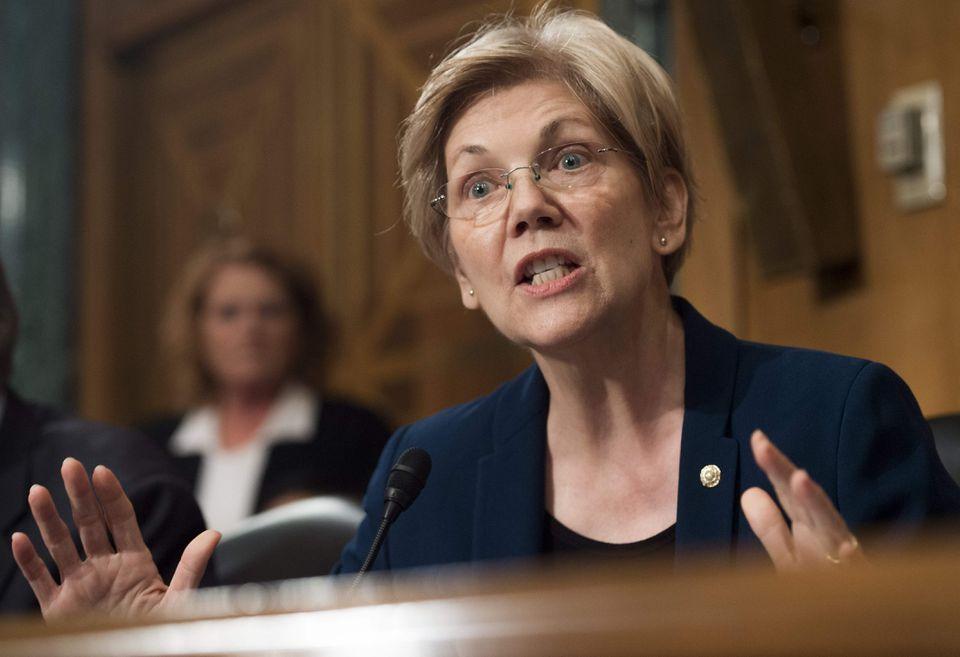 Senator Elizabeth Warren spoke at Tuesday's hearing.