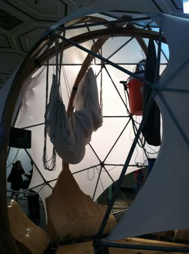 """At 808 Gallery's exhibition """"System: ECOnomies, """"Mary Mattingly's """"Flock House."""""""