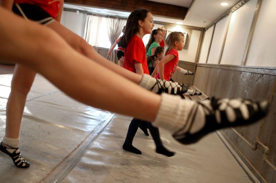 Irish Step Dancing class at the O'Shea-Chaplin Academy of Irish Dance.
