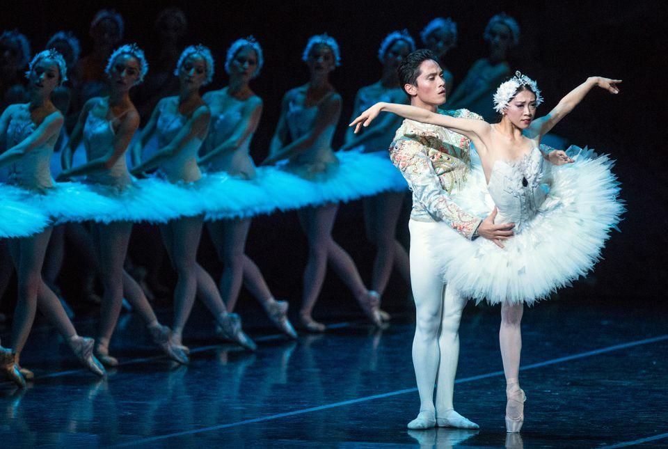 "Jeffrey Cirio and Misa Kuranaga in Boston Ballet's new production of ""Swan Lake."""