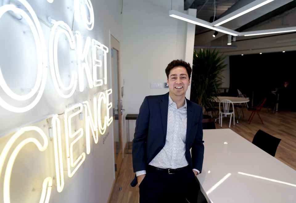 Codi Gharagouzloo, an entrepreneur/scientist who invented a medical imaging technology that can more easily detect Alzheimer's disease, uses Agency's shared space in Cambridge.