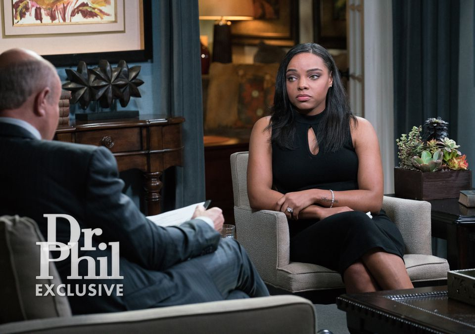 """Shayanna Jenkins-Hernandez, fiancee of former NFL player Aaron Hernandez, who committed suicide in jail, gives an interview on the """"Dr. Phil"""" show."""