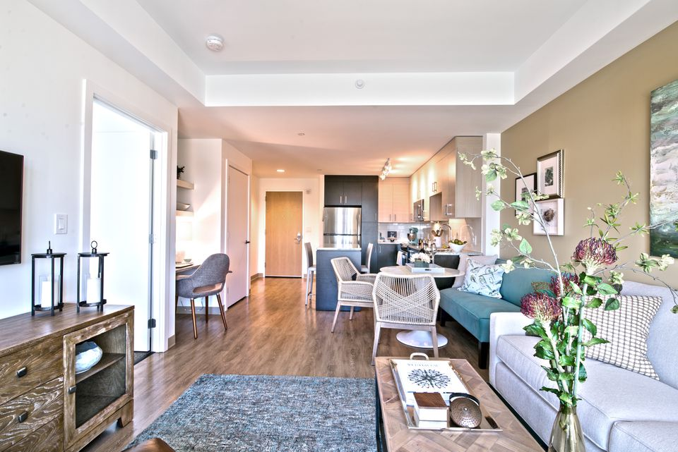 The costlier apartments range from a 572-square-foot studio for $2,815 per month to a 1,618-square-foot, three-bedroom penthouse for $8,340. The development is mixed-income, with 40 percent affordable rentals.