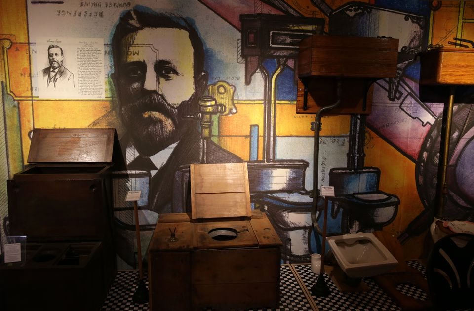 Thomas Crapper, often credited as the inventor of the toilet, is a highlight in another Plumbing Museum display.