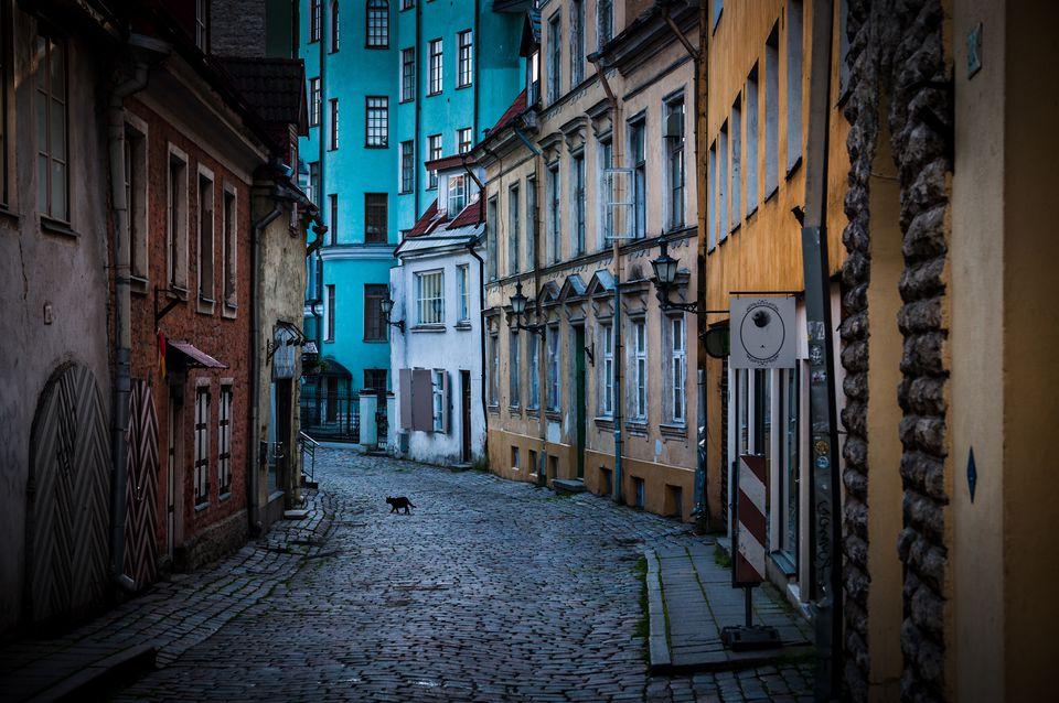 A street in Tallinn's Old Town.