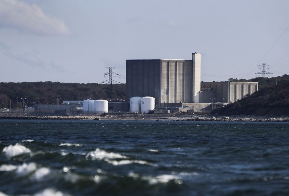 The Pilgrim Nuclear Power Plant in October 2015, after Entergy announced the plant would close.