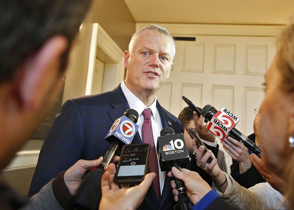 """Governor Charlie Baker said Monday that he prefers to """"focus on the issues"""" with Suffolk DA Rachael Rollins."""