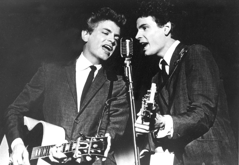 Phil (left) and Don Everly onstage in 1964.