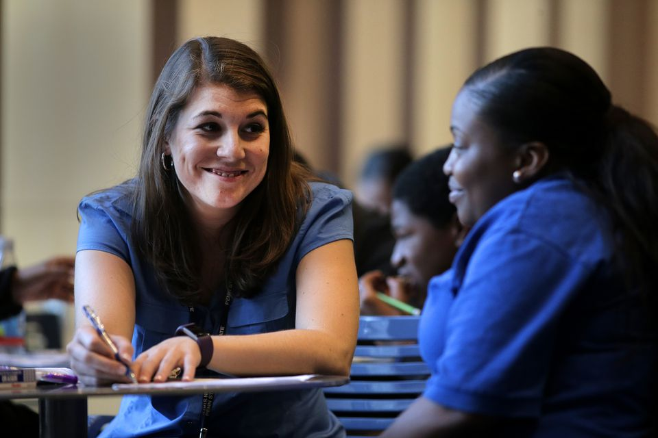 Olivia Garbett tutored Octavia White, 16, a student at City on a Hill a participant in the PieRSquared program.
