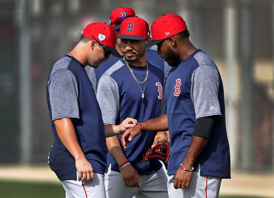 c6285236a (From left) Andrew Benintendi, Mookie Betts and Jackie Bradley Jr. are still