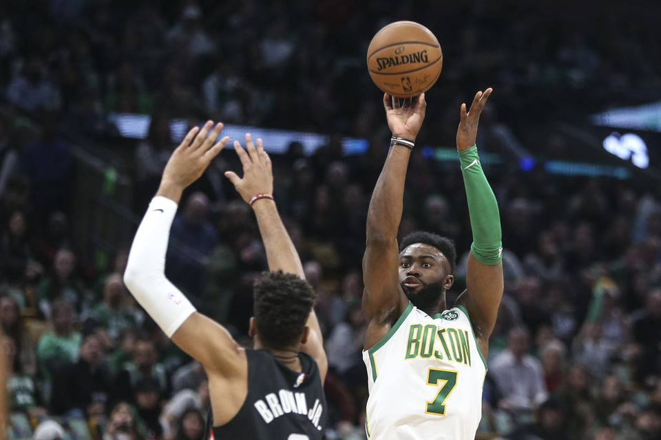 Jaylen Brown's made just 24 starts this season compared to 70 — plus another 15 in the playoffs — a year ago, but his scoring off the bench has been invaluable.