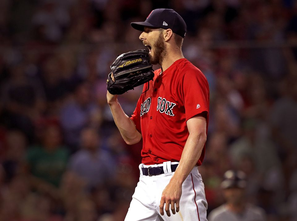 Chris Sale is on schedule to return to the Red Sox in September.